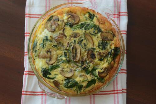 spinach mushroom frittata recipe step by step