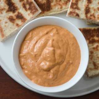 Roasted red pepper dip recipe, how to make red pepper dip