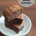 3 ingredient flourless nutella brownies recipe ed