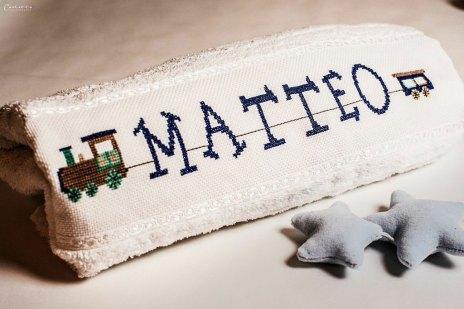 Matteos personalisierter Bademantel von Tante Lilli