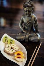 Süße Sushi: gesunder Milchreis, Obst & Nüsse