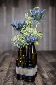 Vase aus Bierflaschen