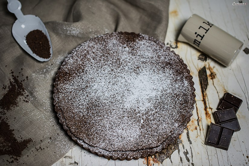chocolate coconut tarte