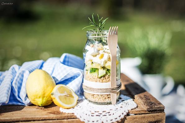 Cous Cous Salat im Glas