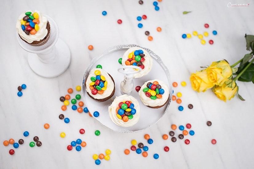m&ms schoko cupcakes