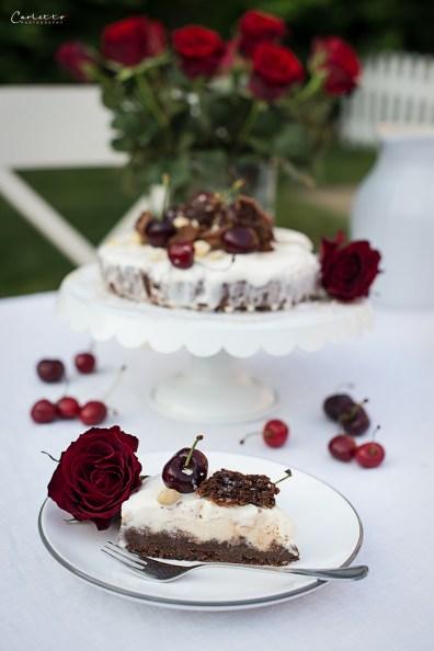 Eistorte Brownie-Kirsch