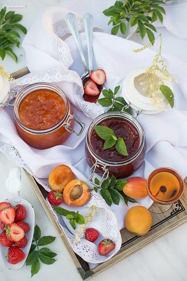 Strawberry- apricot jam