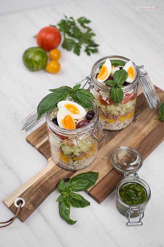 rezept f r einen schnellen thunfisch salat im glas. Black Bedroom Furniture Sets. Home Design Ideas