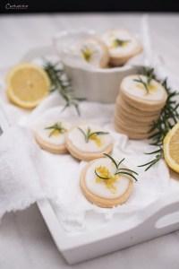 Zitronen Butterkekse