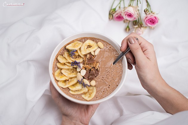 Kaffee Smoothie Bowl