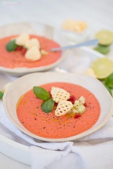 Frühlings Gemüse Gazpacho mit Pommels