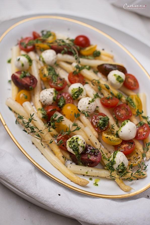 Spargel Caprese Salat
