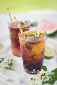Sommerlicher Rotwein Mojito