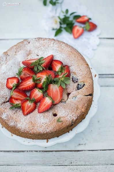 Sommer Beeren Kuchen