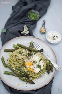 Spaghetti mit Frühlingskräuterpesto
