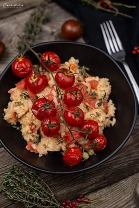 Mediterranes Blitzrisotto mit Tomate