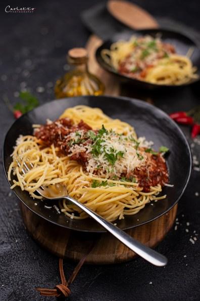 Spaghetti mit Blitz Bolognese