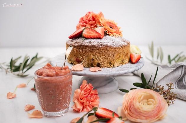 Rhabarberkuchen Zuckerfrei
