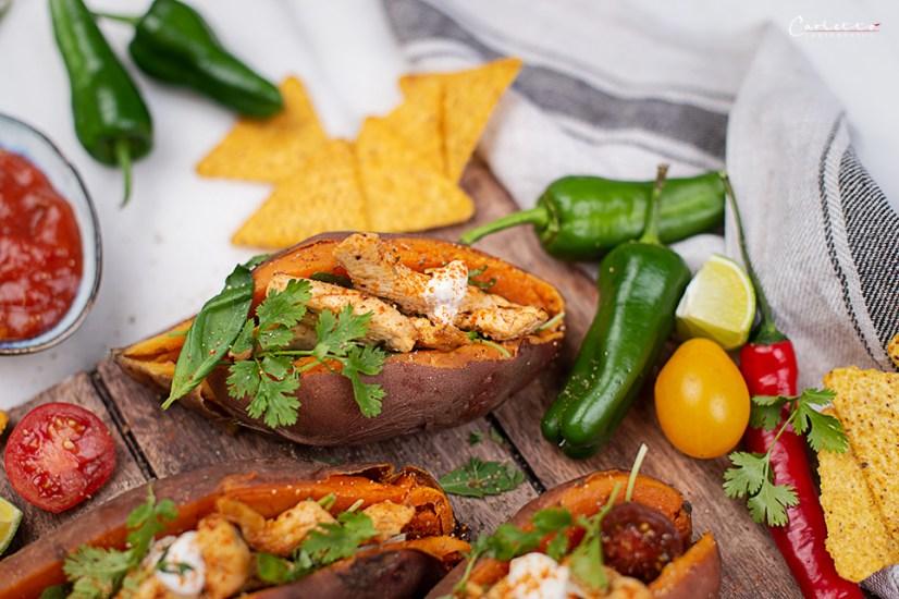 Gefüllte Süßkartoffel Mexikan Style