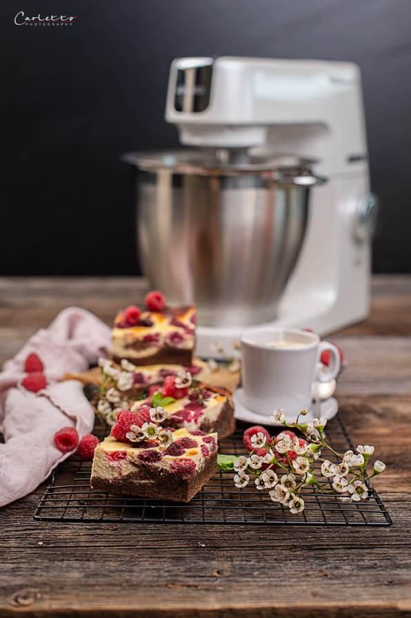 Schoko Himbeer Cheesecake Brownies