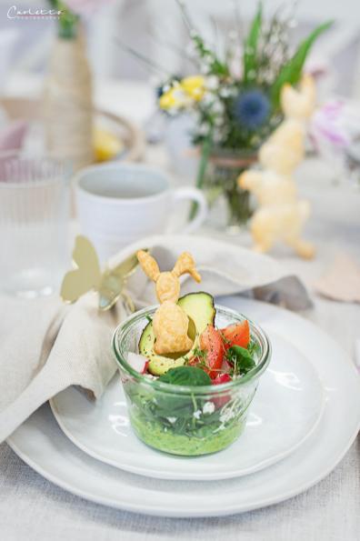 Ostersalat im Glas