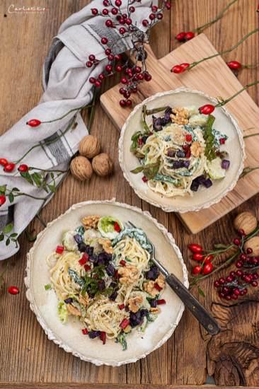 Herbst Pasta mit Blauschimmelkäse_4116