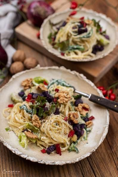 Herbst Pasta mit Blauschimmelkäse_4131