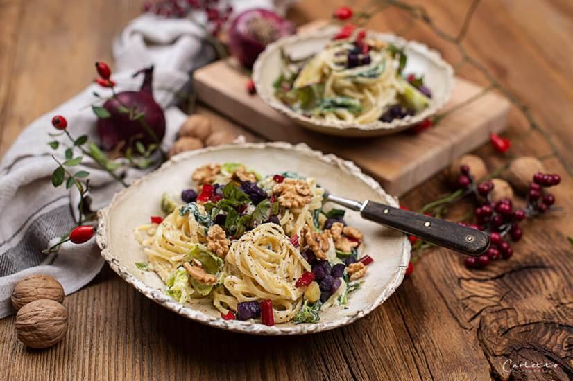 Herbst Pasta mit Blauschimmelkäse_4137