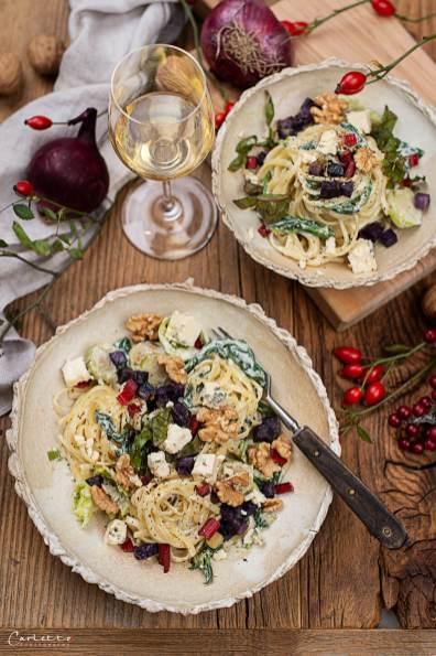 Herbst Pasta mit Blauschimmelkäse_4170