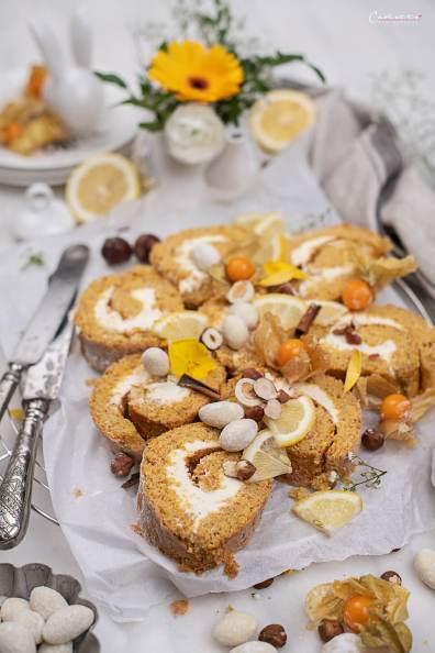 Karotten Kuchen Roulade_4816
