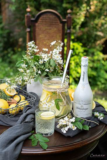 Gartenshooting Zitronen Bowle mit Rosmarin_7971