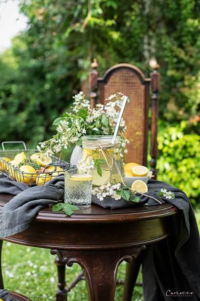 Gartenshooting Zitronen Bowle mit Rosmarin_7979