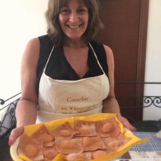 Chef in Tuscany at your Holiday Home and Cookery Course: Fresh Orange Ravioli and Rocket Pesto recipe!