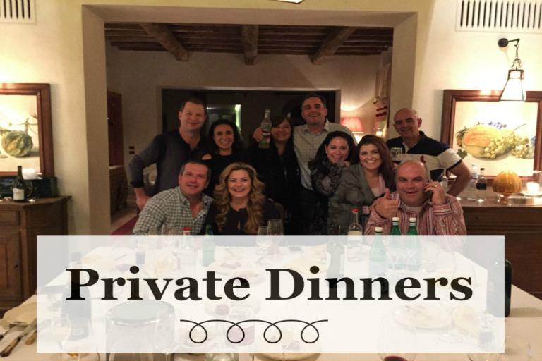 Cene private in toscana