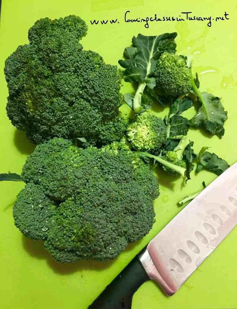 organic cookingclass broccoli