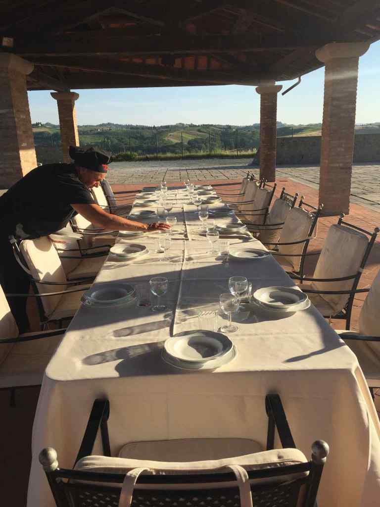 food made on the spot in tuscany