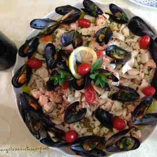 Hot Seafood Starter from Italy