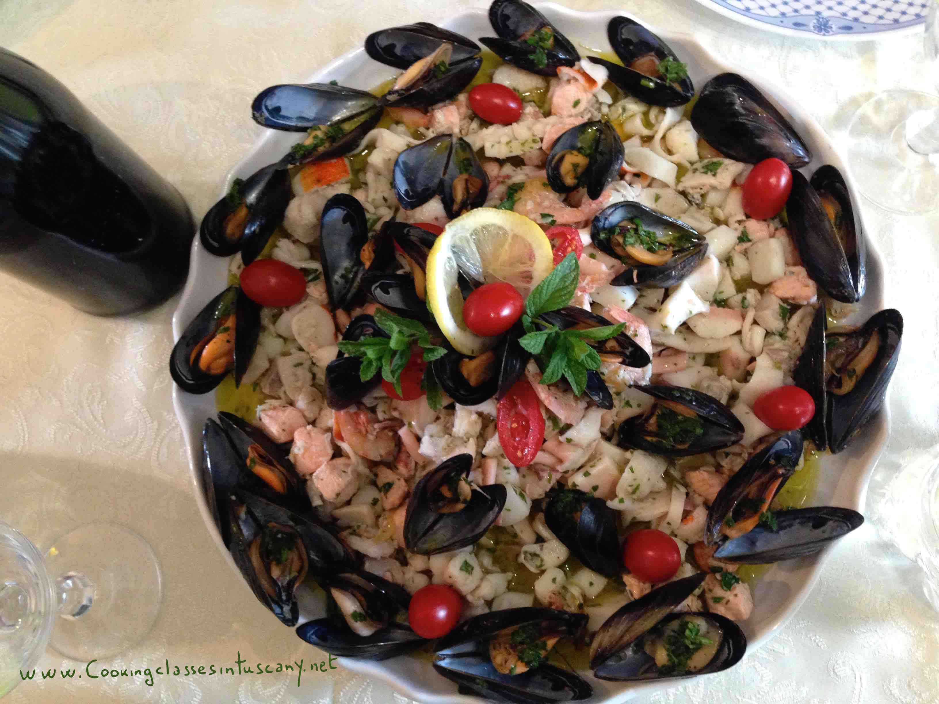 hot seafood starter from tuscany
