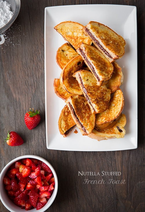 Nutella Stuffed French Toast with Macerated Strawberries | Cooking Classy