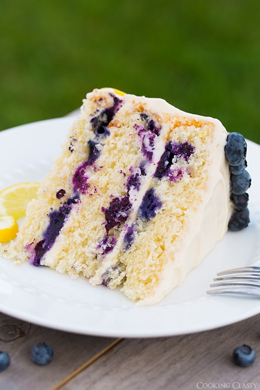 Lemon Blueberry Cake Cooking Classy