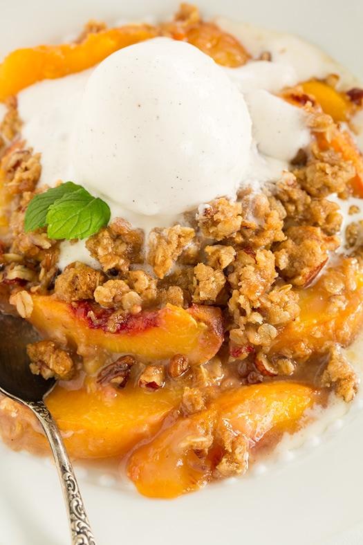 Peach Crisp - Cooking Classy