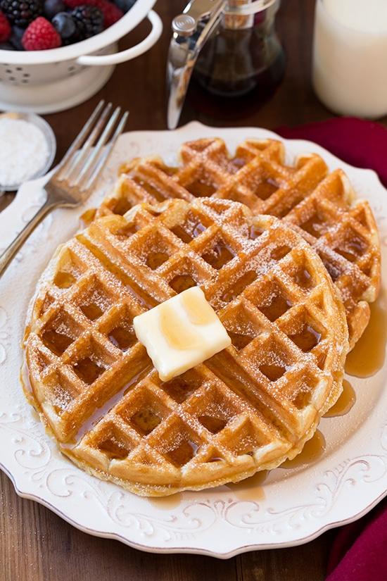 Waffles belgas |  Cocinar con clase