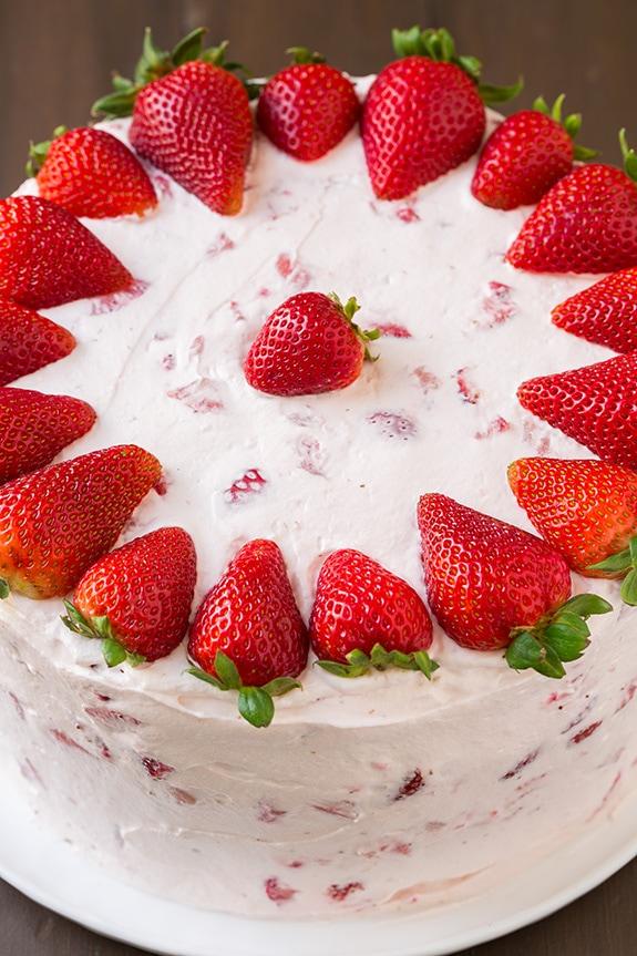 Fresh Strawberry Cake Cooking Classy