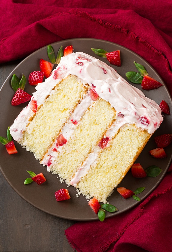 Fresh Strawberry Cake Cooking Classy