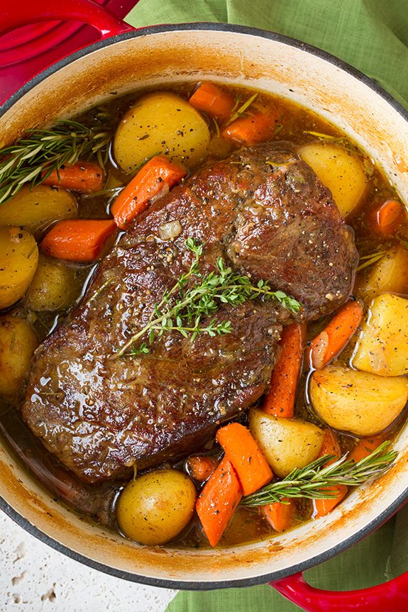 Image result for Beef Roast in Le Creuset pot