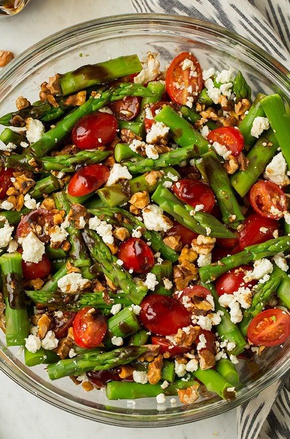 Asparagus, Tomato and Feta Salad with Balsamic Vinaigrette