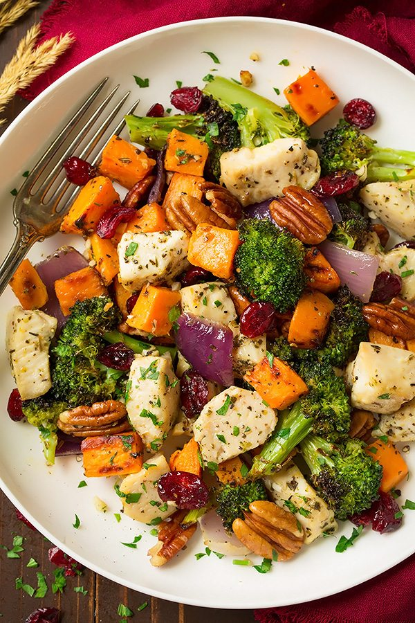 Chicken Broccoli and Sweet Potato Sheet Pan Dinner | Cooking Classy