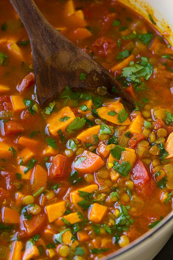 Sweet Potato Soup Healthy Moroccan Lentil Cooking Classy