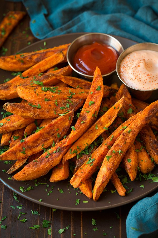 Oven Baked Sweet Potato Fries (Healthy & Homemade