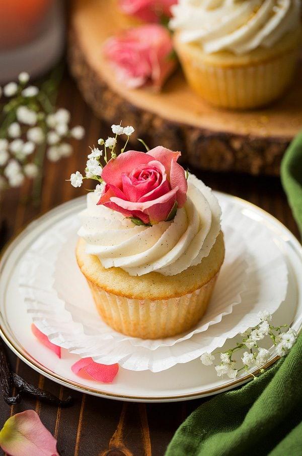 Vanilla Bean Cupcakes with Vanilla Bean Buttercream